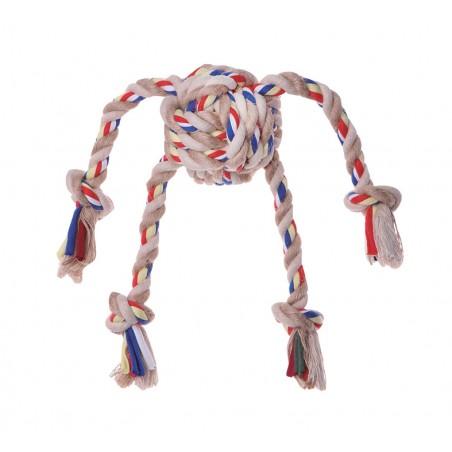 Balle de jeu avec balle en corde + 4 tentacules