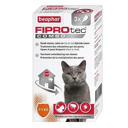 FIPROtec COMBO - Pipettes antiparasitaire pour Chat