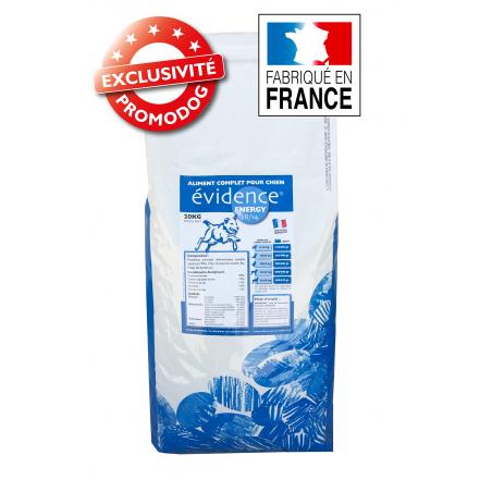 EVIDENCE ENERGIE - ALIMENT CHIEN - Fabrication Française - 20kg