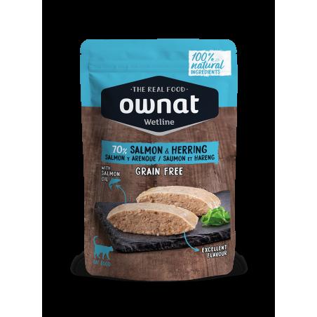 OWNAT Pâtée pour Chat - Sans Céréales - Saumon et Hareng