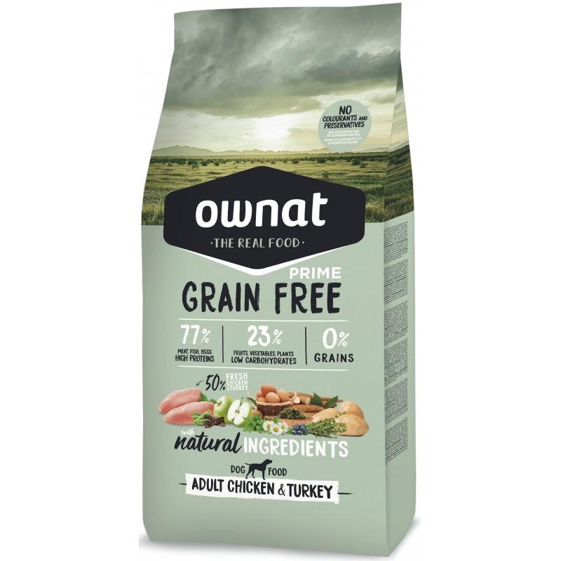 OWNAT PRIME Grain Free Poulet Dinde 14kg