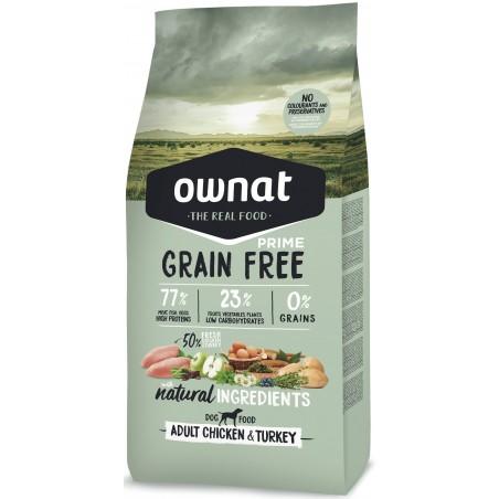 OWNAT PRIME Chien Adulte - Grain Free - au Poulet