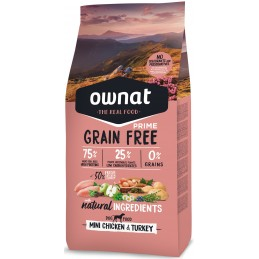 OWNAT PRIME Mini adulte Grain Free Poulet 3kg