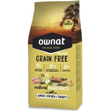 OWNAT PRIME Chien Junior - Grain Free - au Poulet