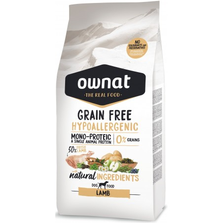 OWNAT Hypoallergénique Grain Free Agneau 14kg