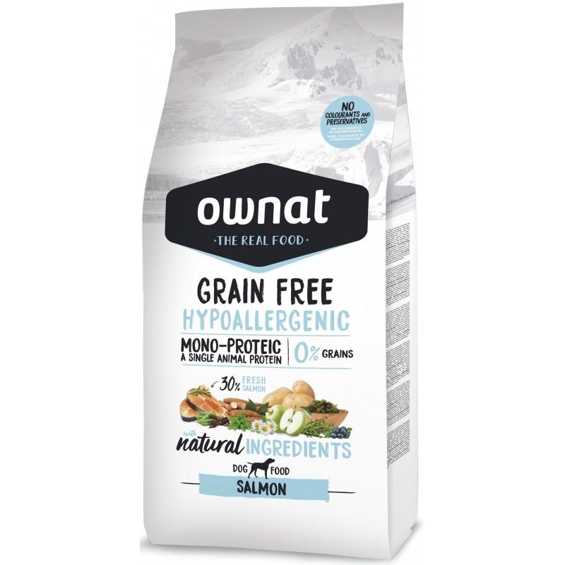 OWNAT Hypoallergénique Grain Free Saumon 14kg