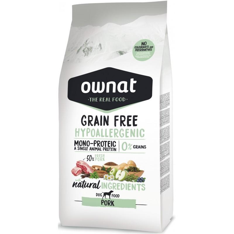 OWNAT Hypoallergénique Grain Free Porc 14kg